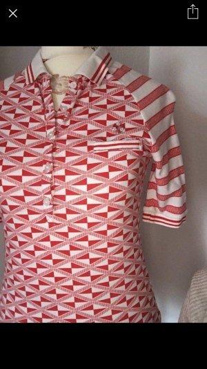 Blutsgeschwister Blutsschwester Shirt Oberteil Polo XS 34 Retro Vintage