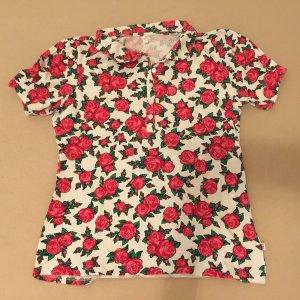 Blutsgeschwister Polo Shirt white-brick red
