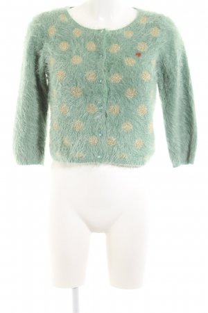 Blutsgeschwister Cardigan green-gold-colored spot pattern casual look