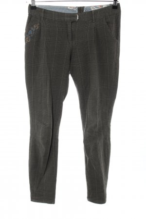 Blutsgeschwister Chinos light grey-natural white check pattern casual look