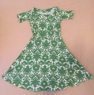 Blutsgeschwister Jersey Dress natural white-green