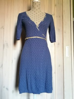 Blutsgeschwister Knitted Dress steel blue