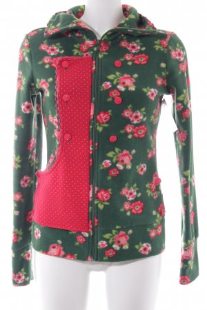 Blutsgeschwister Fleece Jackets floral pattern romantic style