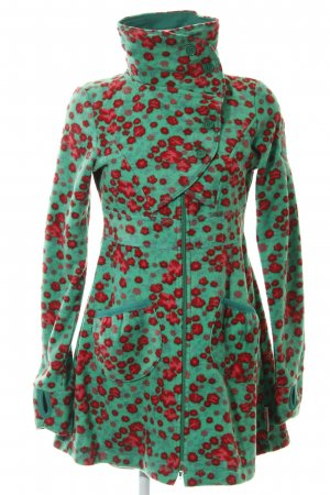 Blutsgeschwister Cappotto in pile motivo floreale soffice
