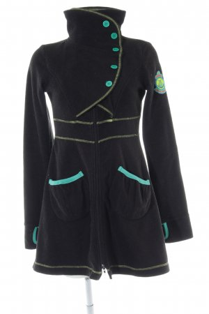 Blutsgeschwister Fleece Coats black-turquoise street-fashion look