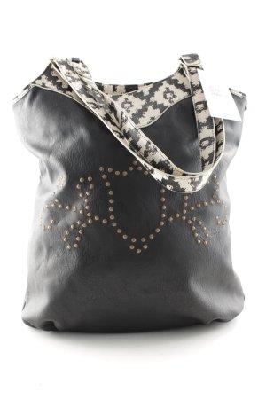 Blutsgeschwister Handtasche schwarz-weiß Casual-Look
