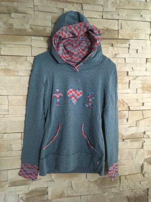 Blutsgeschwister Hooded Sweater azure