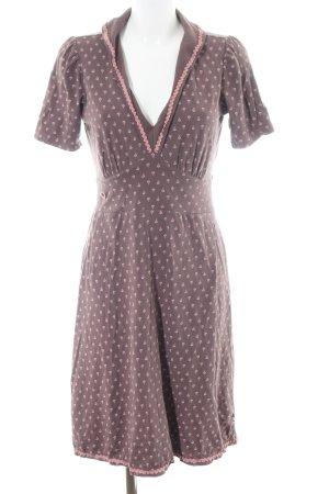 Blutsgeschwister Jersey Dress brown-pink allover print casual look