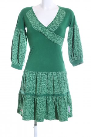 Blutsgeschwister Jerseykleid grün abstraktes Muster Casual-Look
