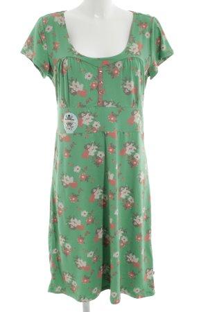 Blutsgeschwister Jerseykleid grün Blumenmuster Casual-Look