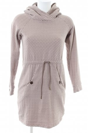 Blutsgeschwister Hooded Dress white-brown allover print casual look
