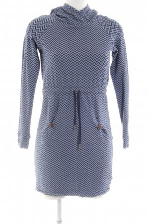 Blutsgeschwister Hooded Dress blue graphic pattern casual look