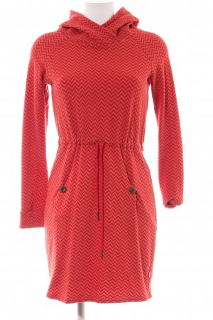 Blutsgeschwister Hooded Dress red graphic pattern casual look