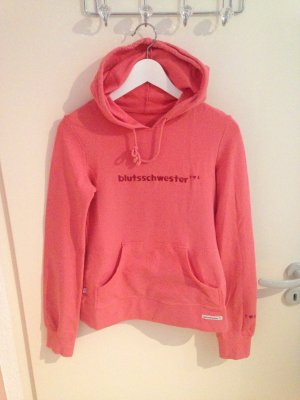 Blutsgeschwister Hooded Sweater salmon