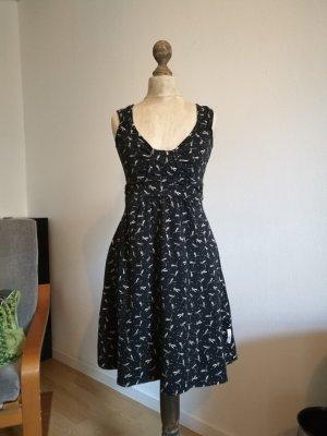 Blutsgeschwister Kleid M/L Libellen schwarz