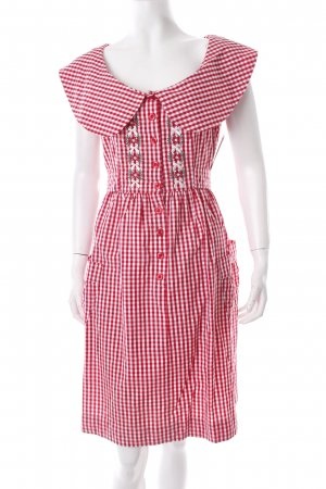 Blutsgeschwister Kleid rot-weiß Vichykaromuster Country-Look