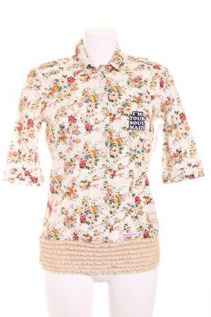 Blutsgeschwister Kurzarm-Bluse florales Muster Romantik-Look