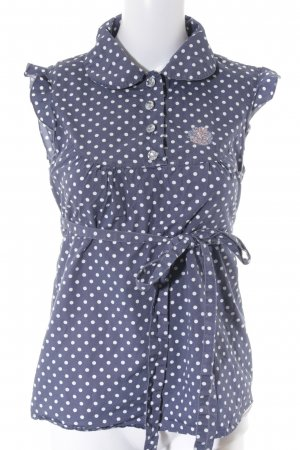 Blutsgeschwister Short Sleeved Blouse white-blue spot pattern casual look