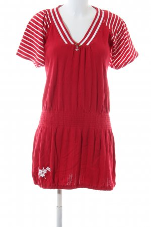 Blutsgeschwister Shortsleeve Dress red-white striped pattern casual look
