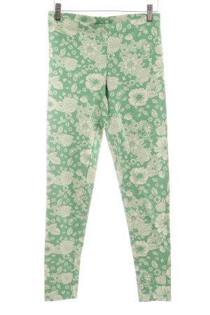 Blutsgeschwister Leggings grün-blassgrün Blumenmuster Casual-Look
