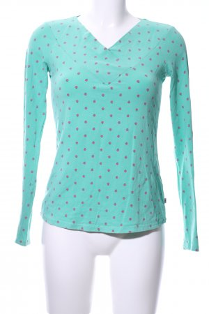 Blutsgeschwister Longsleeve turquoise-pink allover print casual look