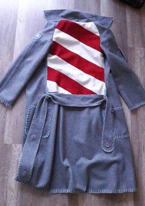 Blutsgeschwister Mantel Coat Streifen Grau S/M