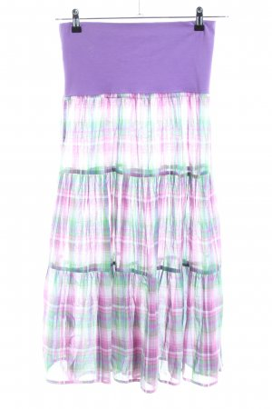 Blutsgeschwister Midi Skirt check pattern casual look