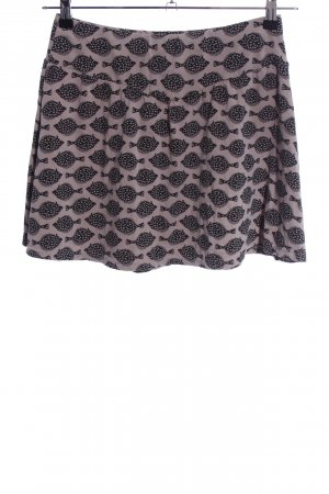 Blutsgeschwister Miniskirt brown allover print casual look