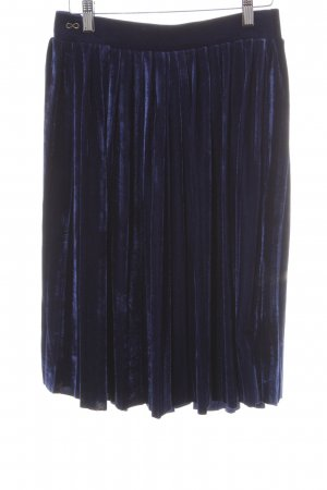 Blutsgeschwister Pleated Skirt dark blue velvet appearance