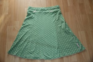 "Blutsgeschwister Rock mit Tupfen Gr. L ""High Waist Society Skirt"" greenish-dots"