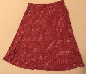 Blutsgeschwister Flared Skirt dark red viscose