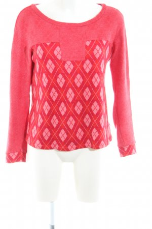 Blutsgeschwister Rundhalspullover rot grafisches Muster Casual-Look