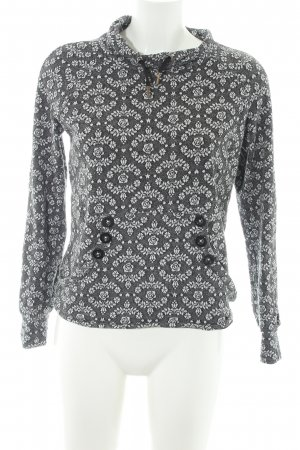 Blutsgeschwister Rundhalspullover florales Muster Casual-Look