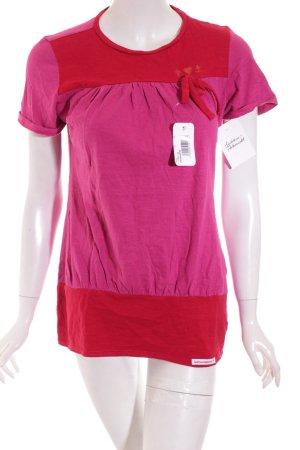 Blutsgeschwister Shirt rot-violett Casual-Look