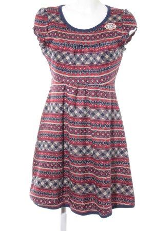 Blutsgeschwister Shirt Dress ikat pattern Logo application