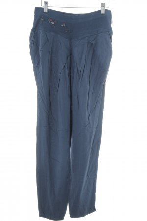 Blutsgeschwister Stoffhose petrol Casual-Look