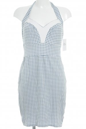 Blutsgeschwister Stretch Dress azure-white abstract pattern casual look