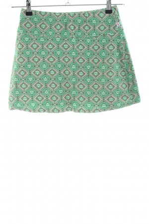 Blutsgeschwister Stretch Skirt green-brown allover print casual look