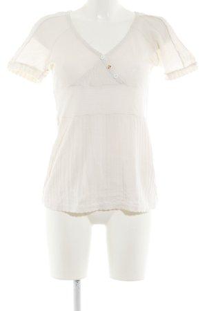 Blutsgeschwister Camisa tejida blanco puro look casual