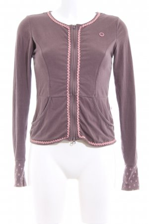 Blutsgeschwister Sweat Jacket brown-pink graphic pattern casual look