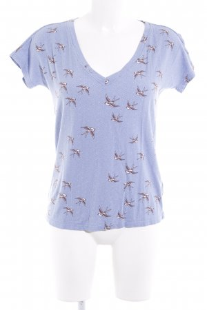 Blutsgeschwister T-Shirt Animalmuster Casual-Look