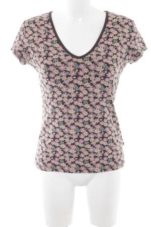 Blutsgeschwister T-Shirt Blumenmuster Casual-Look
