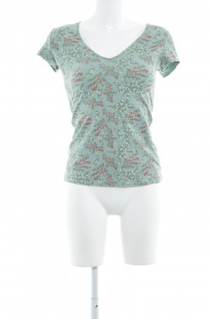 Blutsgeschwister T-Shirt florales Muster Casual-Look