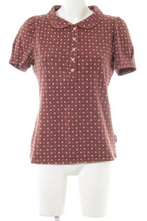 Blutsgeschwister T-Shirt rostrot Blumenmuster Casual-Look