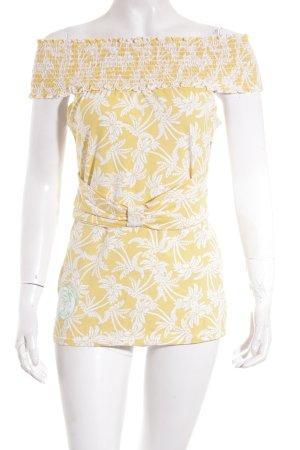 Blutsgeschwister Top gelb-weiß Blumenmuster extravaganter Stil