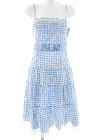 Blutsgeschwister Trägerkleid weiß-kornblumenblau abstraktes Muster Beach-Look