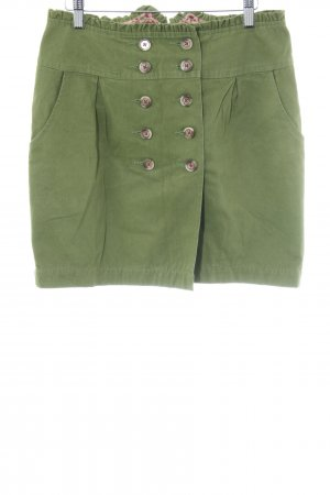 Blutsgeschwister Gonna a tulipano verde bosco stile casual
