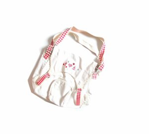 Blutsgeschwister Crossbody bag red-white cotton