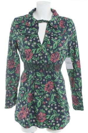 Blutsschwester Blusenkleid florales Muster Street-Fashion-Look