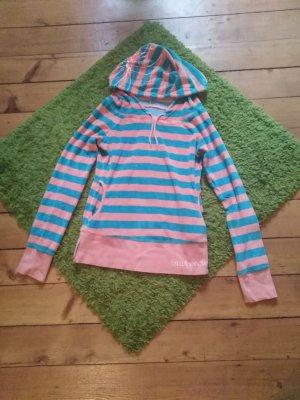 Blutsschwester Sweatshirt met capuchon korenblauw-roze